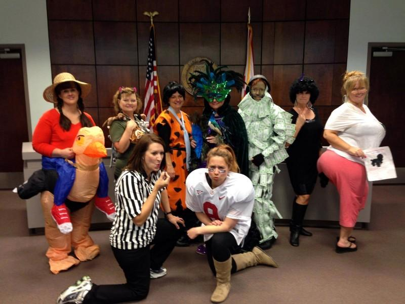 The St. Clair County Commission always has a riotous good time on Halloween.