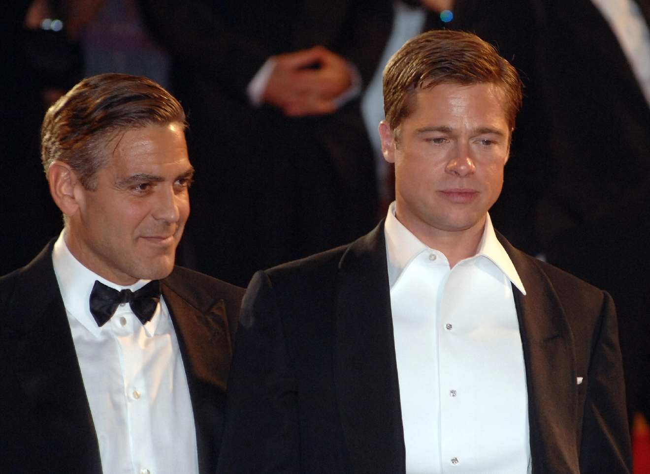 George Clooney and Brad Pitt 2007 Cannes Film Festival Day 9 - 'Ocean's Thirteen' premiere - Departures  Featuring: George Clooney and Brad Pitt Where: Cannes, France When: 24 May 2007 Credit: WENN