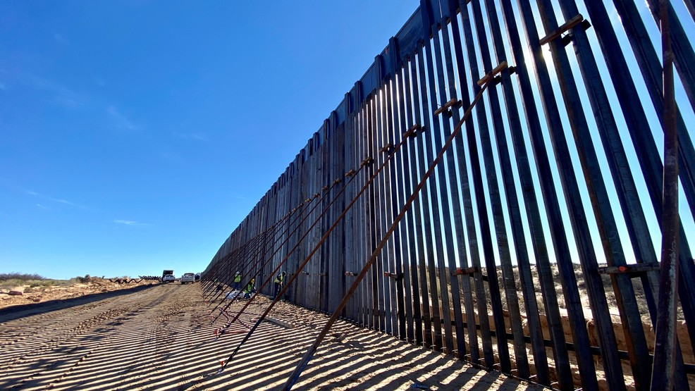 New section of border wall being built in New Mexico