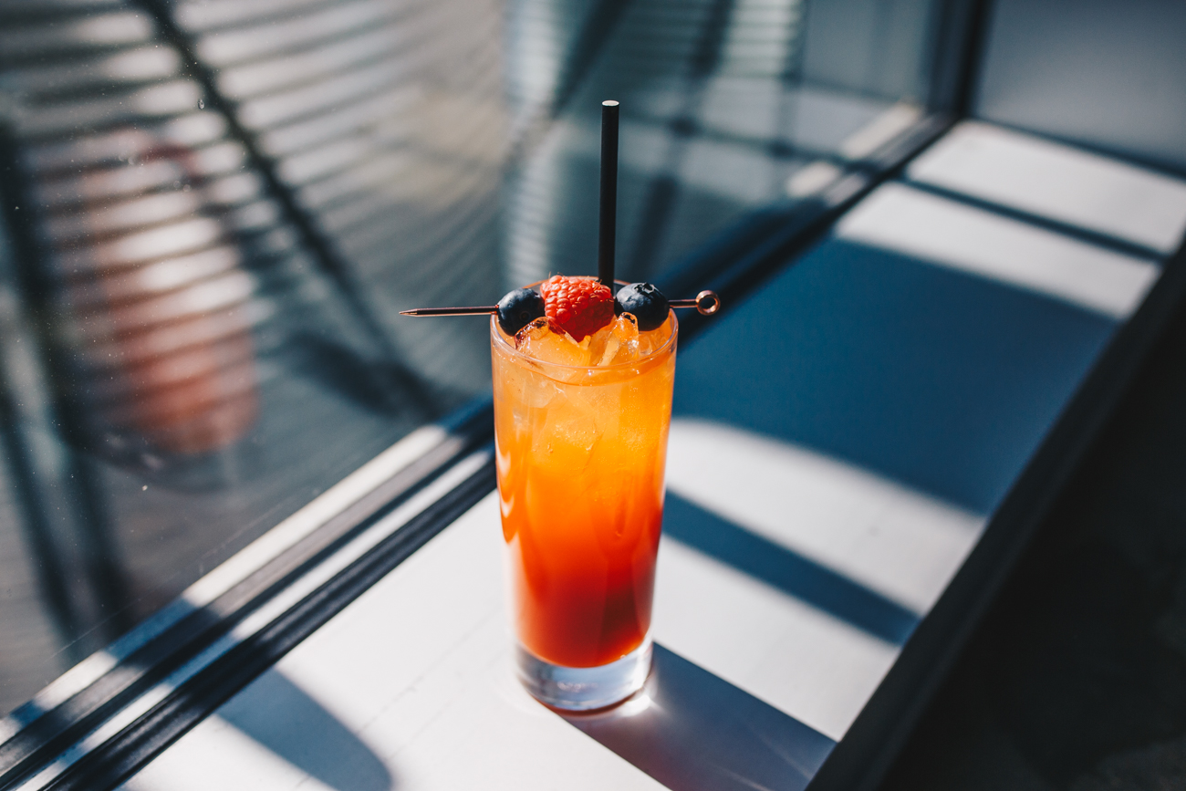 Mellow My Man (Zero Proof): carrot juice, beet simple, lime juice, and club soda (or make it boozy by adding gin or bourbon!) / Image: Catherine Viox // Published: 3.25.19