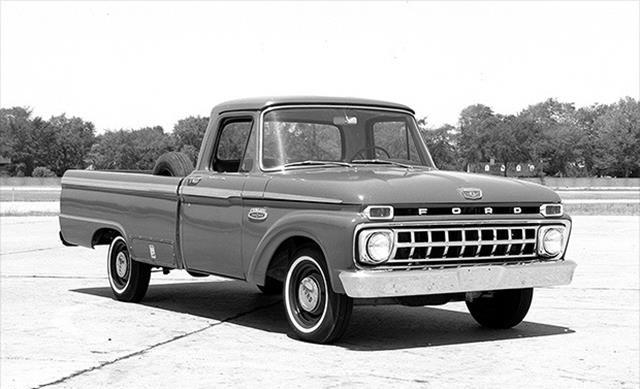 In 1965, Ford introduced twin-I-beam suspension on its trucks. I-beam suspension was rugged enough to handle tough truck work but it allowed the front wheels to move up and down independently of one another.