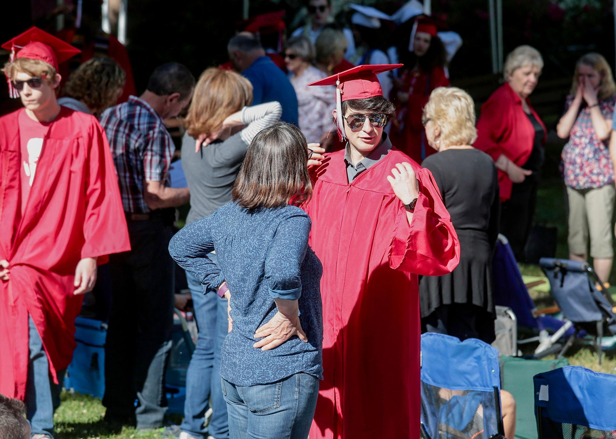 Ashland High Class of 2018 Commencement Ceremony at Lithia Park.   [ / PHOTO BY:  LARRY STAUTH JR]