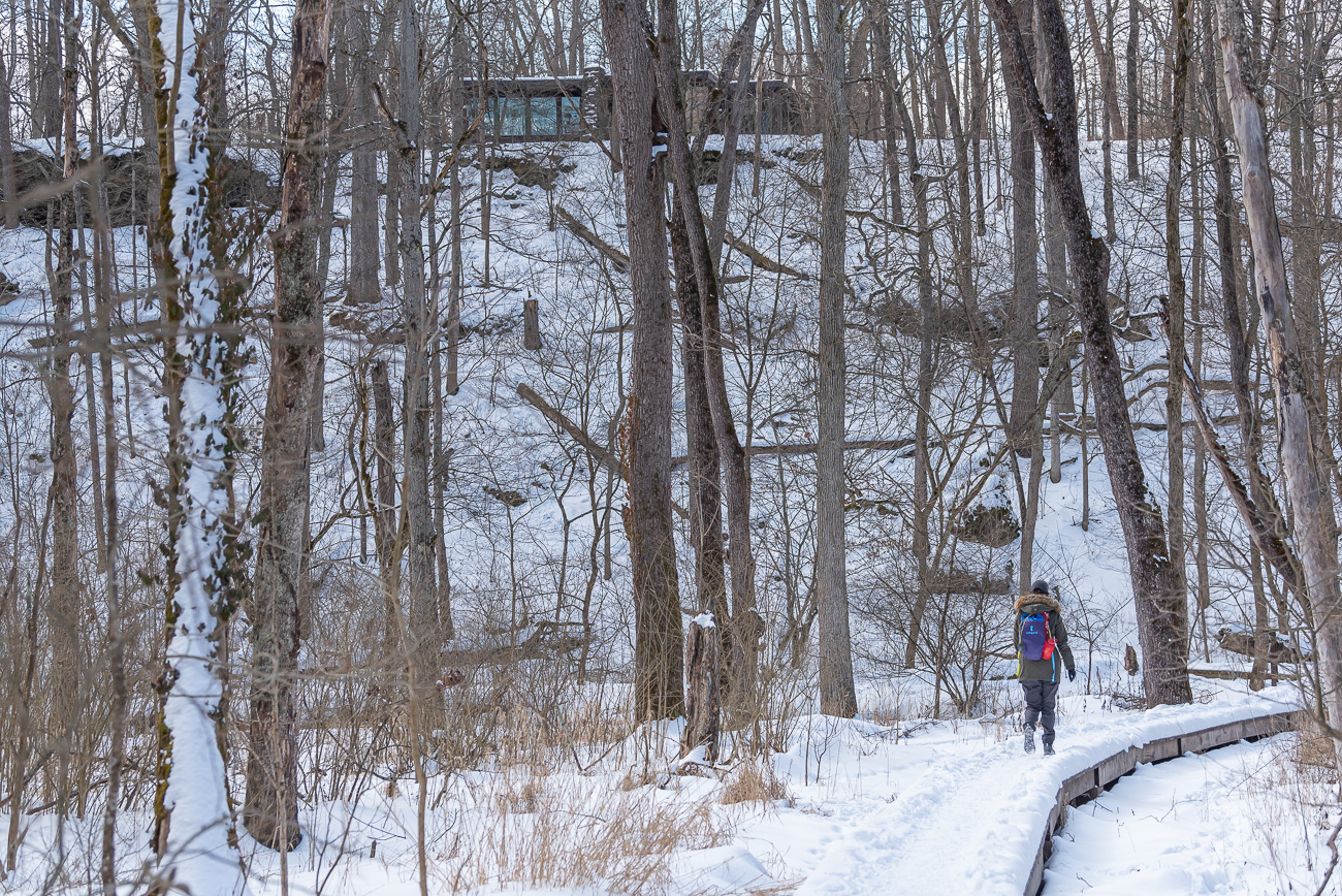 "The address for the Glen Helen Nature Preserve is 405 Corry Street, Inman Trail, Yellow Springs, OH (45387). It is 70 miles north (an hour and 15 minutes) of Cincinnati. Visit{&nbsp;}<a  href=""https://www.glenhelen.org/"" target=""_blank"" title=""https://www.glenhelen.org"">GlenHelen.org</a>{&nbsp;}for more information. / Image: Mike Menke // Published: 2.22.21"