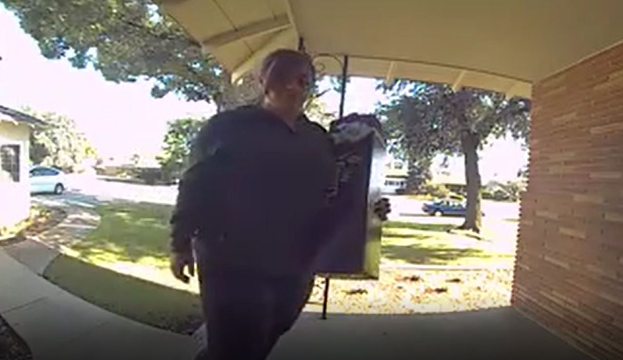 Police say this woman, Alice Bingham, was caught on camera walking up to a porch, and stealing packages.