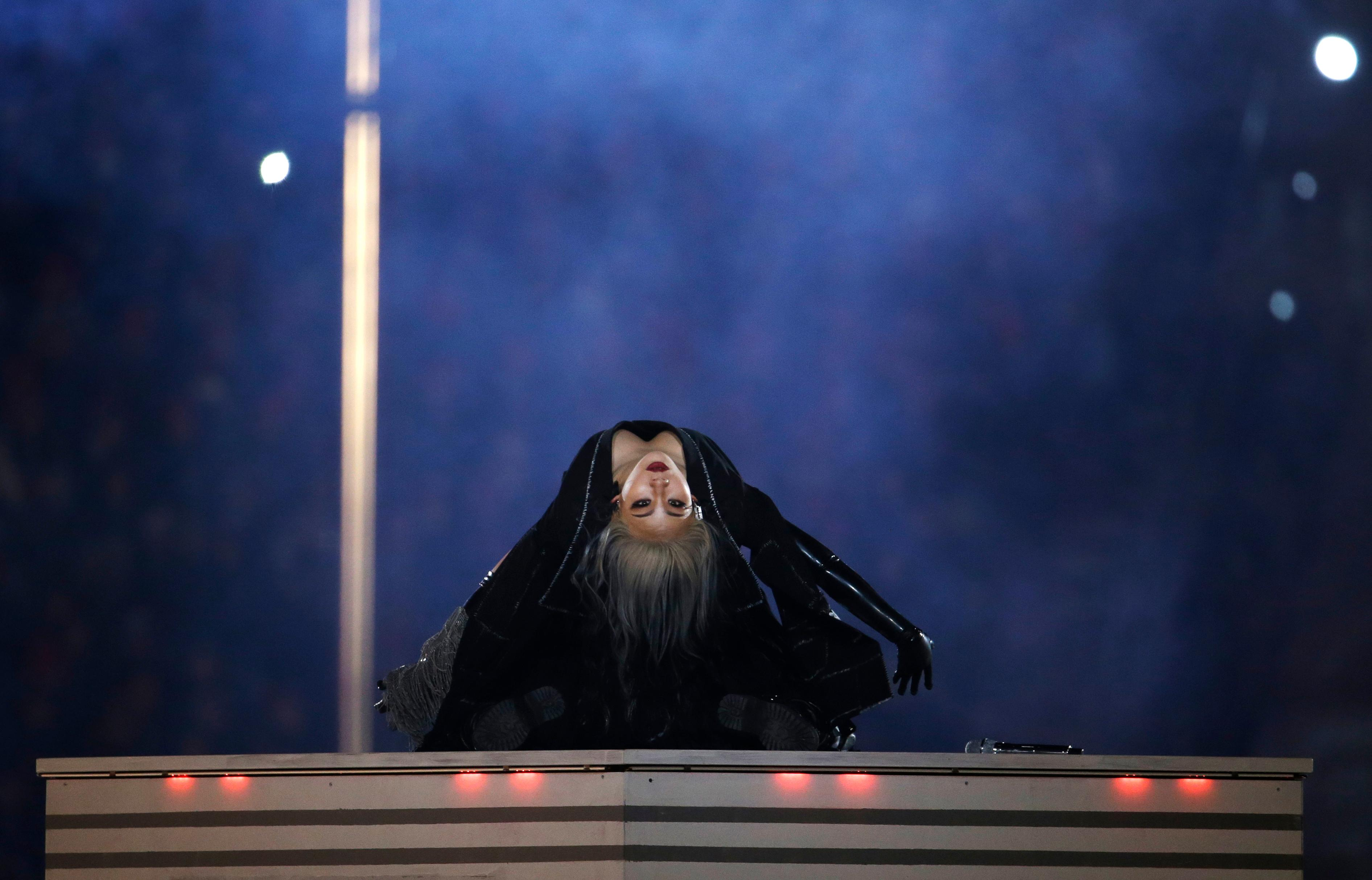 Singer CL performs during the closing ceremony of the 2018 Winter Olympics in Pyeongchang, South Korea, Sunday, Feb. 25, 2018. (AP Photo/Natacha Pisarenko)