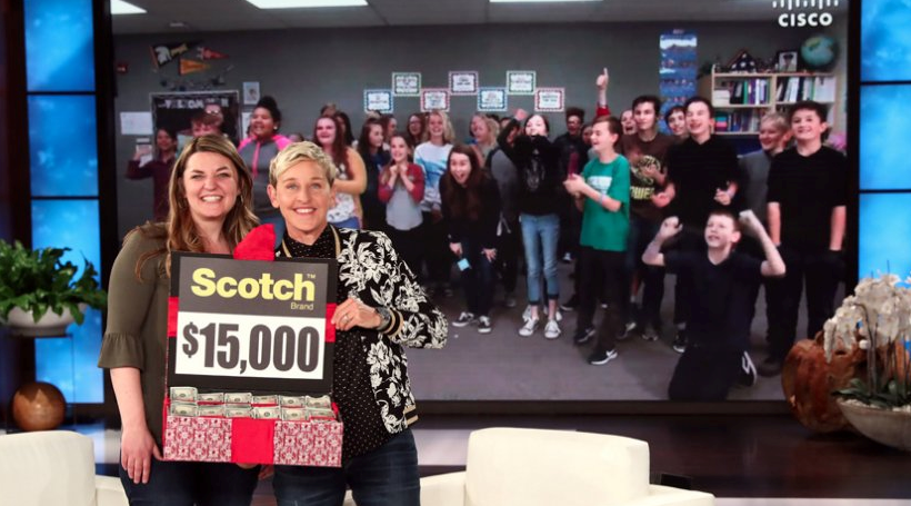 Ellen gives Utah orchestra teacher big surprise (Photo: Ellen Show)