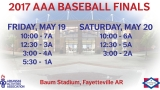 AAA announces 2017 championship schedule for baseball, softball and soccer
