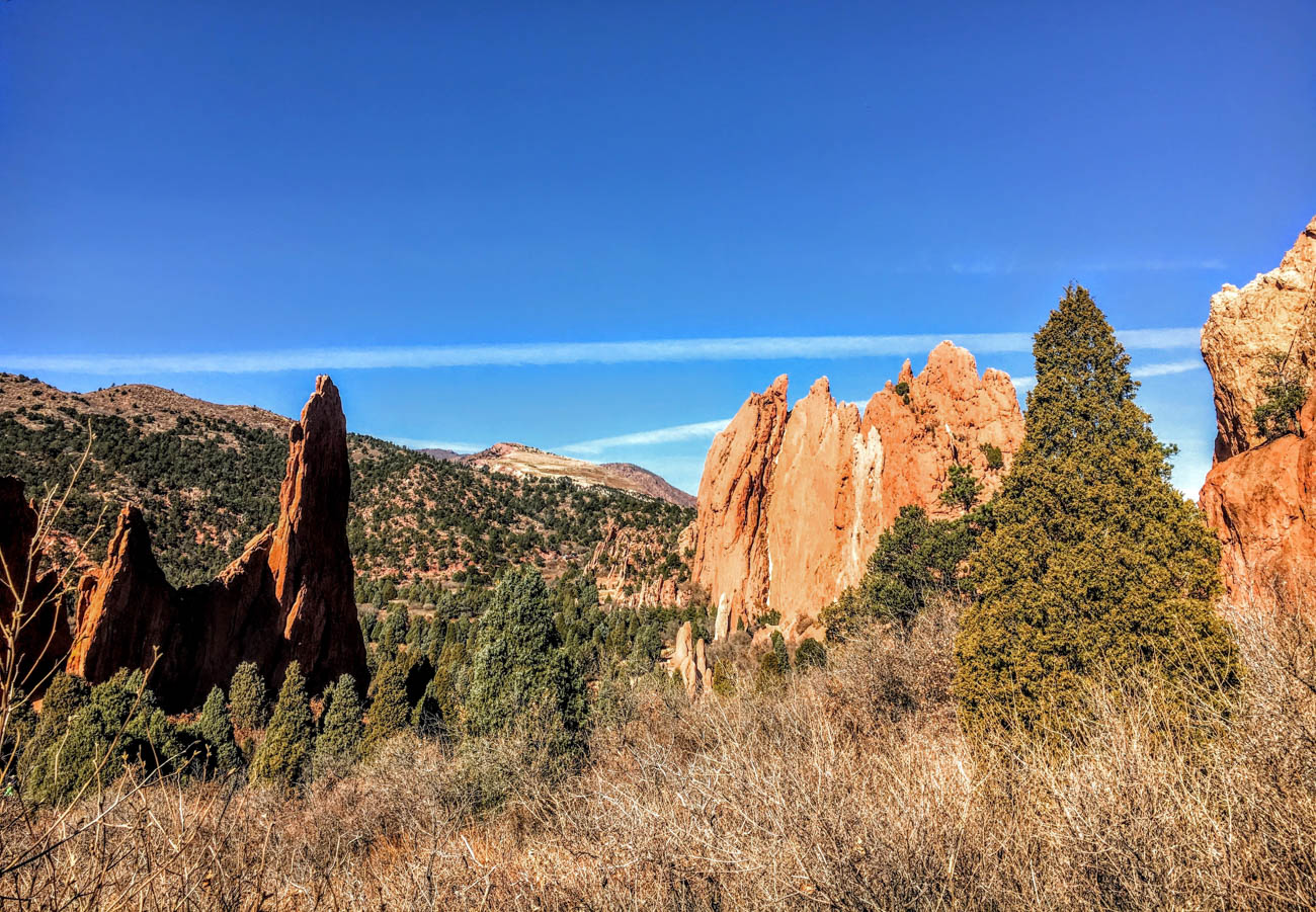 The Garden of the Gods is a free, public park with unique red rock formations. It's located 67 miles from Denver in Colorado Springs. / Image: Di Minardi // Published: 1.18.19