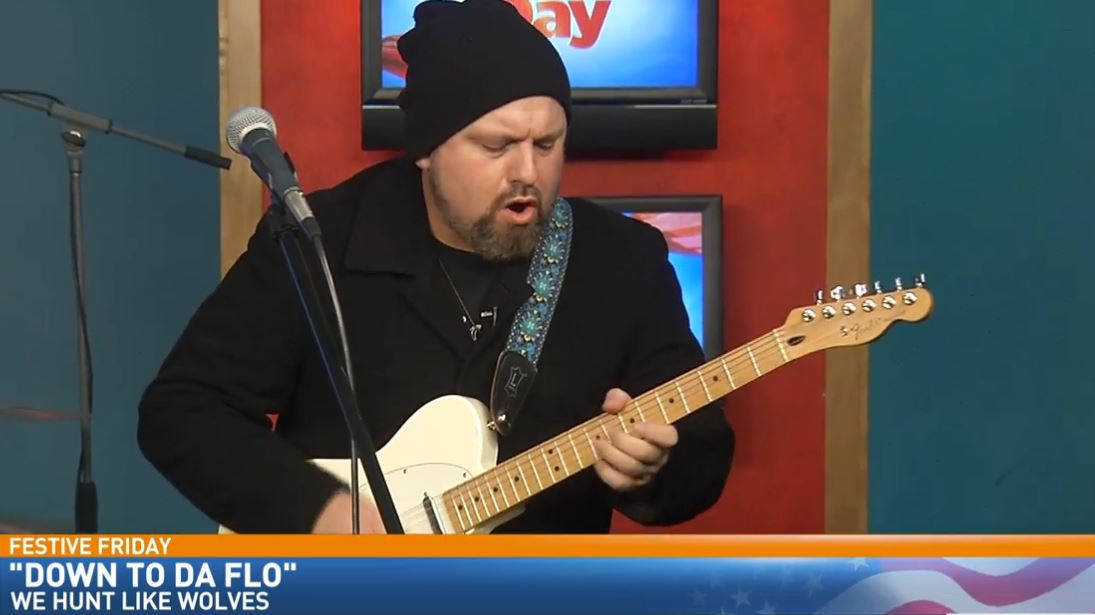 "Local Blues / Rock band, ""We Hunt Like Wolves"" performed in Great Day's Studio B for Festive Friday"