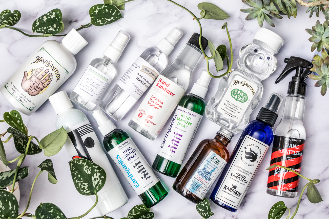 When it recently became difficult to find hand sanitizer, people got creative and made their own. The following businesses also got to work developing a solution to the sanitizer shortage. / Image: Catherine Viox // Published: 5.9.20