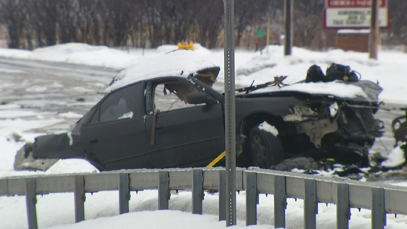 State Police say one person was killed and three others were injured after a multi-car accident in Sennett Wednesday morning.