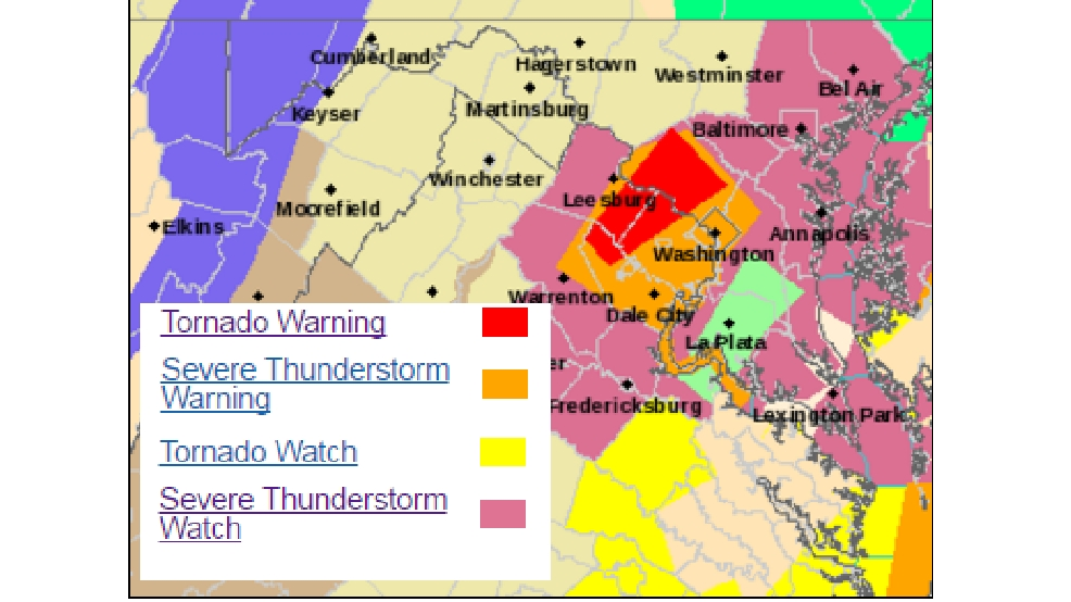 Tornado Warning for Montgomery County expires WBFF