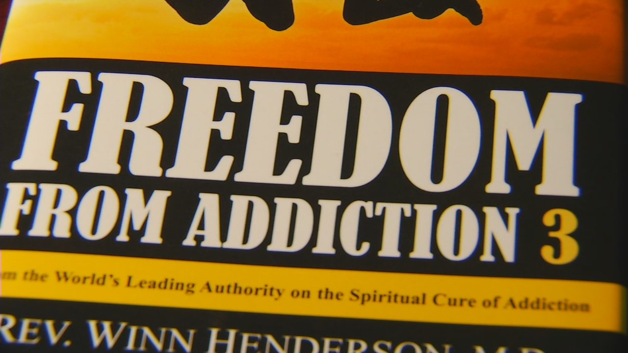 "The Rev. Winn Henderson said those who read and follow his book ""Freedom from Addiction 3"" can often successfully break everything from opioid dependence to alcoholism to overspending. (Photo credit: WLOS staff)"