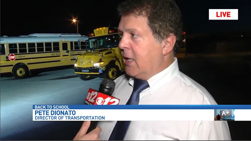 CBS12 anchor Eric Roby speaks with Pete Dionato, the director of  transportation for the Palm