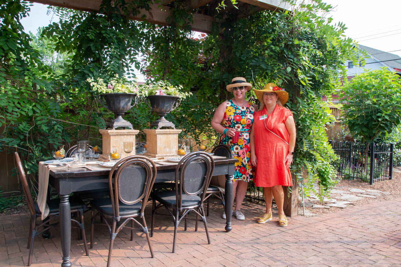 Marlane Vaicius (garden owner on Maple Avenue) and Cathy Rector (Garden Walk Chair) / Image: Elizabeth Lowry // Published: 6.3.19