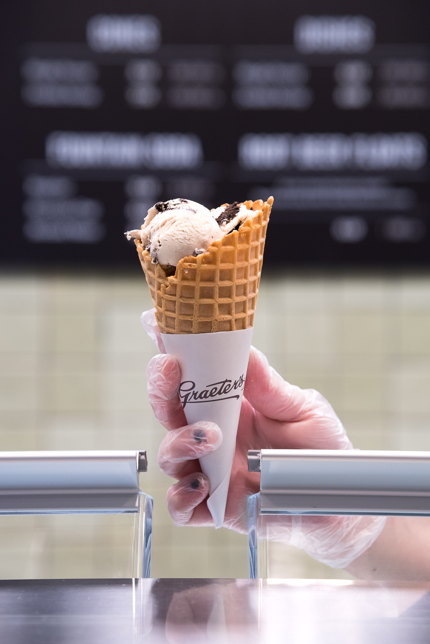 Cookies and cream in a cone / Image: Phil Armstrong, Cincinnati Refined // Published: 1.7.19