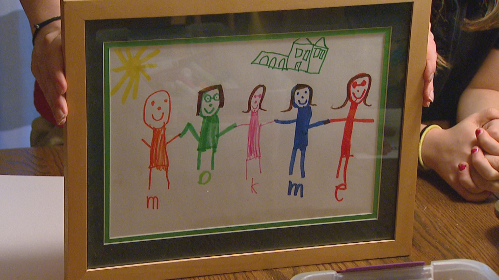 David Gelb's first picture he drew was a family portrait which included Dad Matt, David, Mom Katie and twin sisters Megan and Ellen (WLUK/Jesse Basinski)<p></p>
