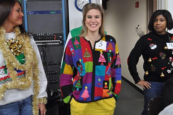 Tacky sweater contestant #3 - Samantha Russell