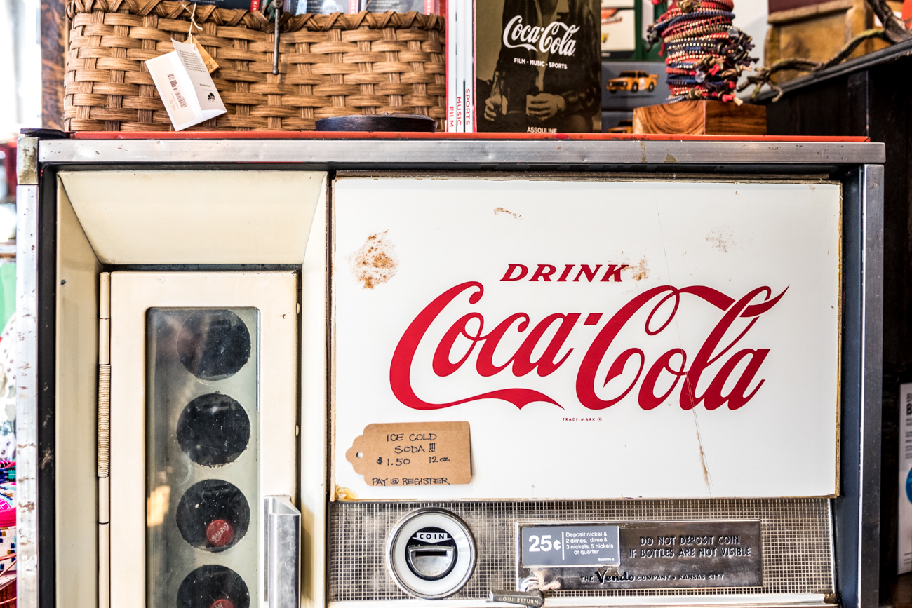 Vintage Coca-Cola vending machine / Image: Catherine Viox // Published: 3.3.20