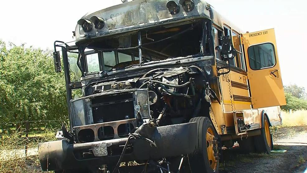 School bus catches fire on Hwy 99 | KBAK