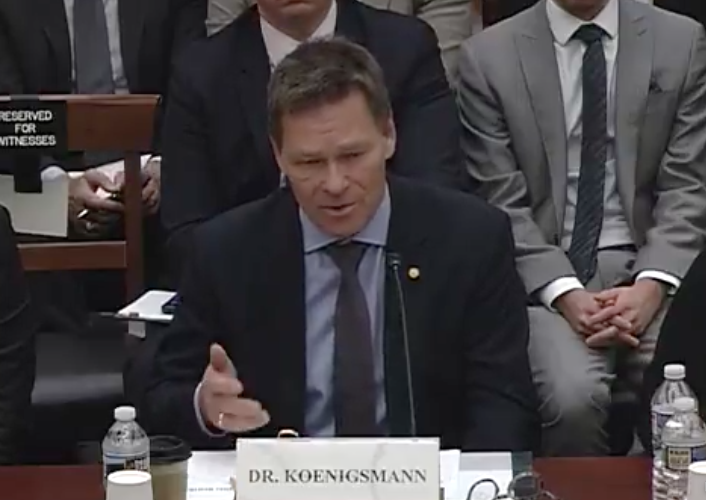 Dr. Hans Koenigsmann, vice president, Build and Flight Reliability, SpaceX/ Photo: The House Science, Space and Technology Committee's Subcommittee on Space