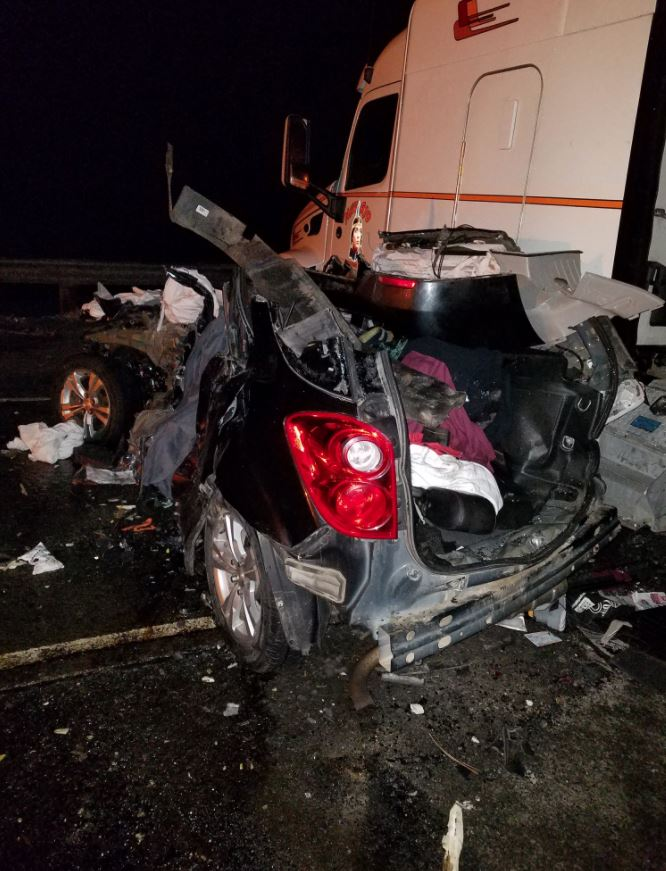 Police said 9 people were injured - 5 of them seriously - in a 20-car pileup on Cabbage Hill on Interstate 84, east of Pendleton near the Deadman's Pass Lookout Area. (OSP)