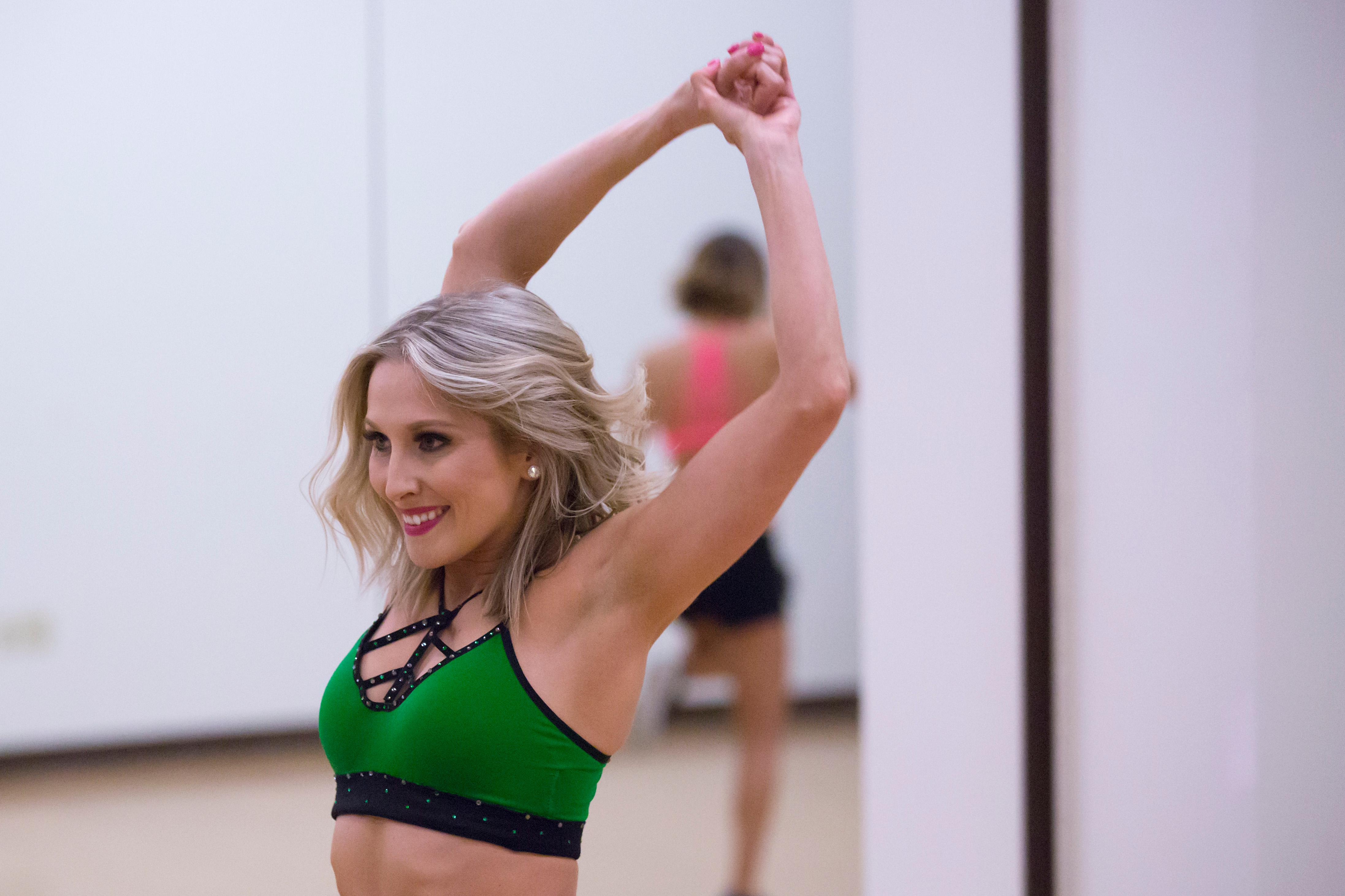 Today (Saturday April 22) was Day 1 of the multi-day audition series to become part of the 2017 Sea Gals. Hundreds of hopefuls came out to the Virginia Mason Athletic Center - rookies and returning Gals alike. The contestants danced freestyle for one minute to the music provided by the Seahawks, and those invited back will move on to the next round of tryout Sunday, April 23. The final squad will be chosen on Sunday, May 7. (Sy Bean / Seattle Refined)