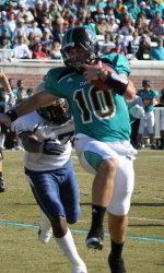 CCU quarterback Zach MacDowall tied a Big South Conference record with 5 TD passes in a single game in a win over Charleston Southern.
