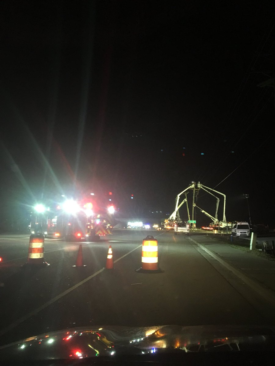 Highway 544 was closed in both directions for nearly 7 hours after a driver hit a utility pole and crews worked to replace it Tuesday morning.{&amp;nbsp;}<p></p>