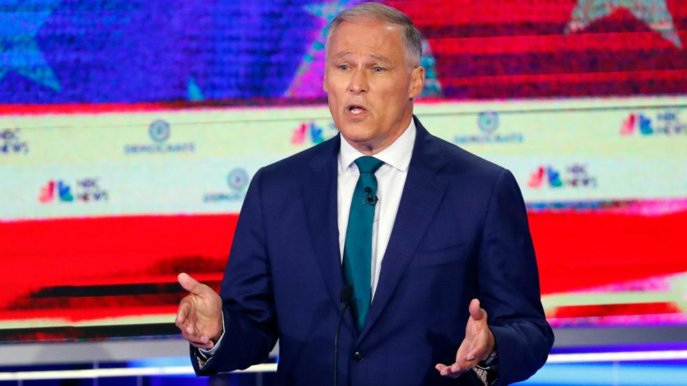 Inslee preaches climate change at latest Democratic debate, gets big reaction
