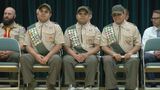 Blind triplets earn Eagle Scout rank