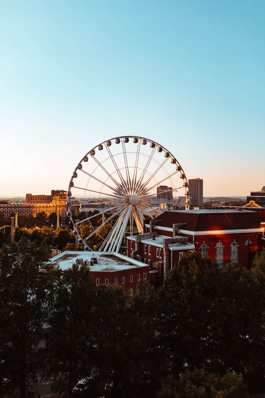 <p>During your visit, don't forget to ride the SkyView Atlanta—a 20-story-high Ferris wheel—for a bird's eye view of the city from Atlanta's Centennial Park. / Image: Kyle Sudu via Unsplash // Published: 4.3.19</p>