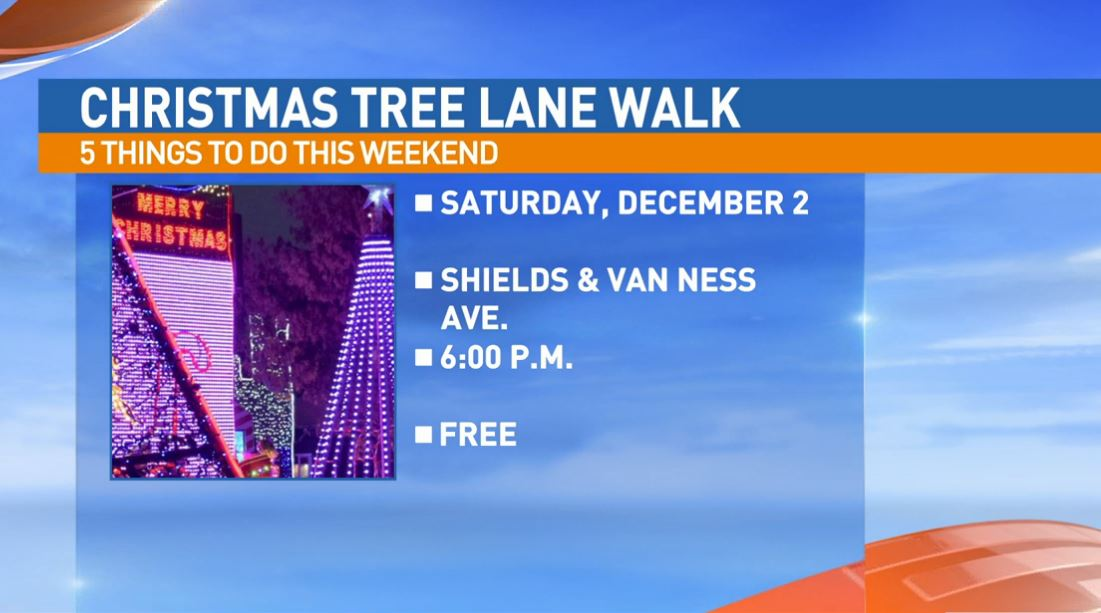 Christmas Tree Lane Walk Night Saturday on Van Ness Blvd.