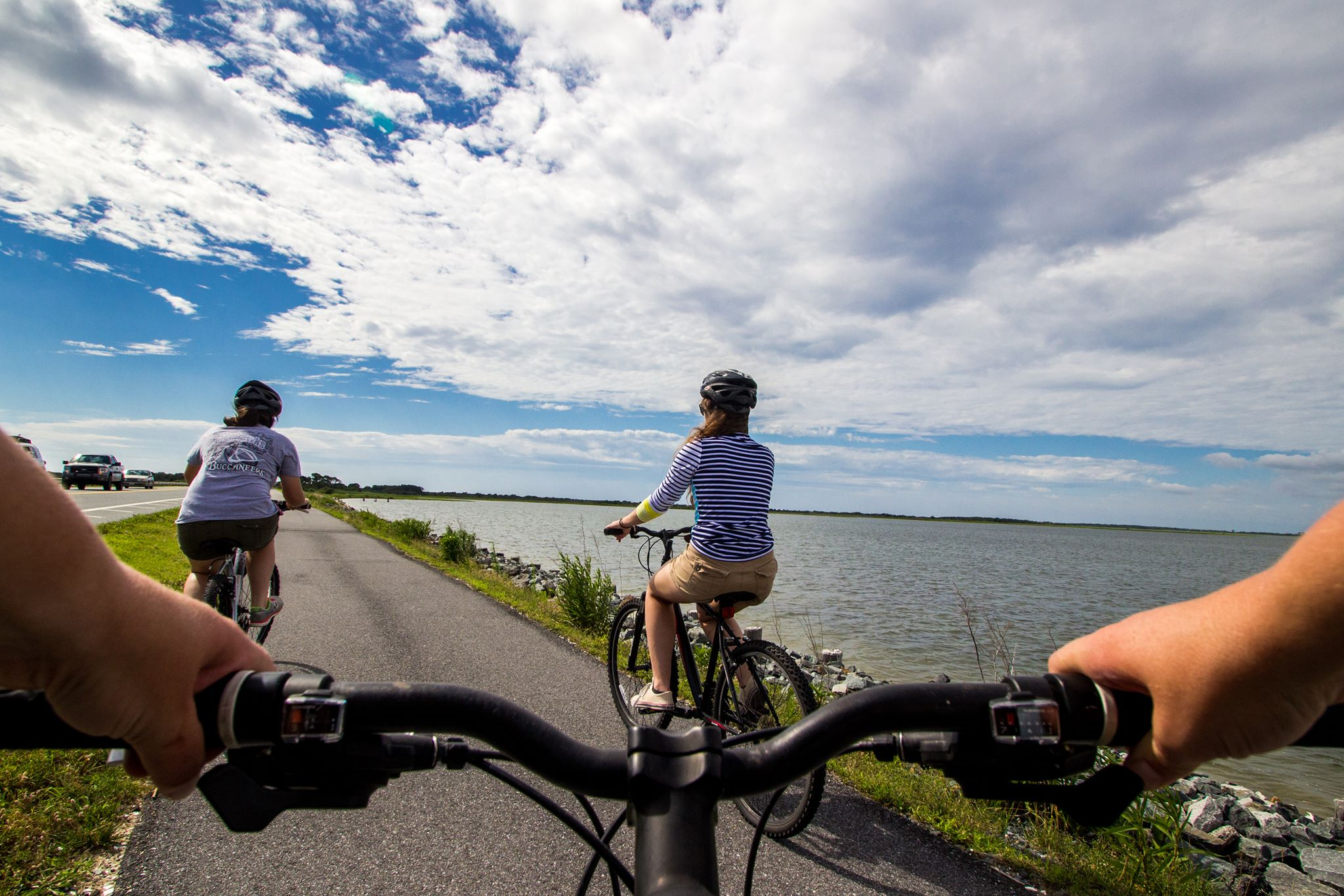 Explore the changing landscape of the islands on foot or by renting a bike. The Bayberry drive on Assateague is a four-mile scenic route with fantastic views of the island, and a chance to spot many species of birds.{ } (Image: Courtesy National Park Service)