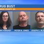 Three in custody following Monroe County drug bust