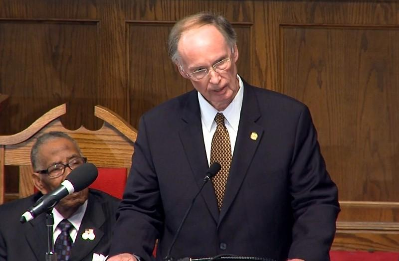 Gov. Robert Bentley speaks at 16th Street Baptist Church Sunday, September 15, 2013.