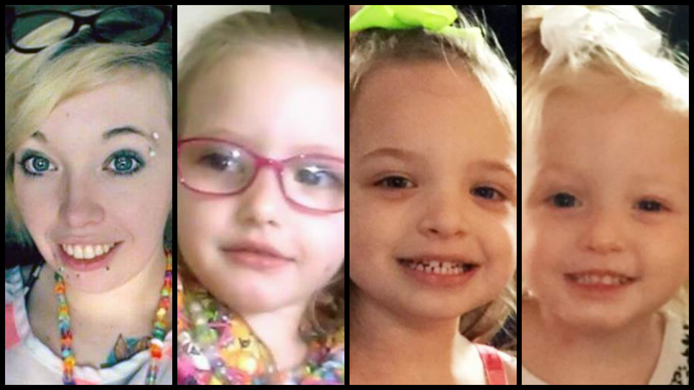 Destiny Corsaut and her three children Izabella, Anastachiah and Melaniey were last seen July 3 in Elgin. (Courtesy of the Chickasha Police Department)