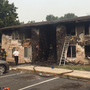 Apartment units burn in fire off Fairview Avenue