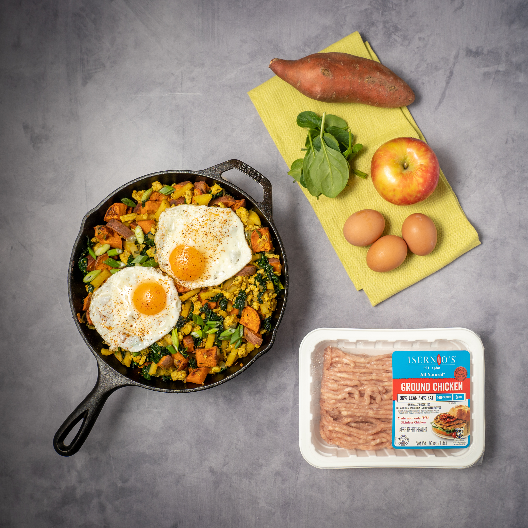 Ground chicken is the perfect addition to many classic dishes, including chili, enchiladas, sandwich wraps, and breakfast scrambles.