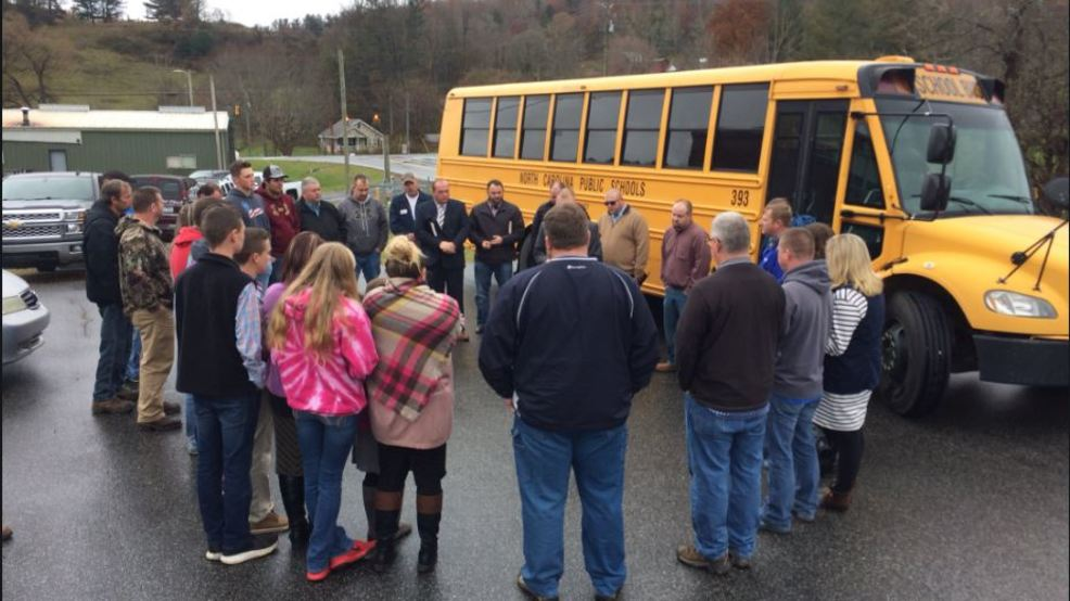 Concerned Mitchell residents hold prayer meeting over play shown to students