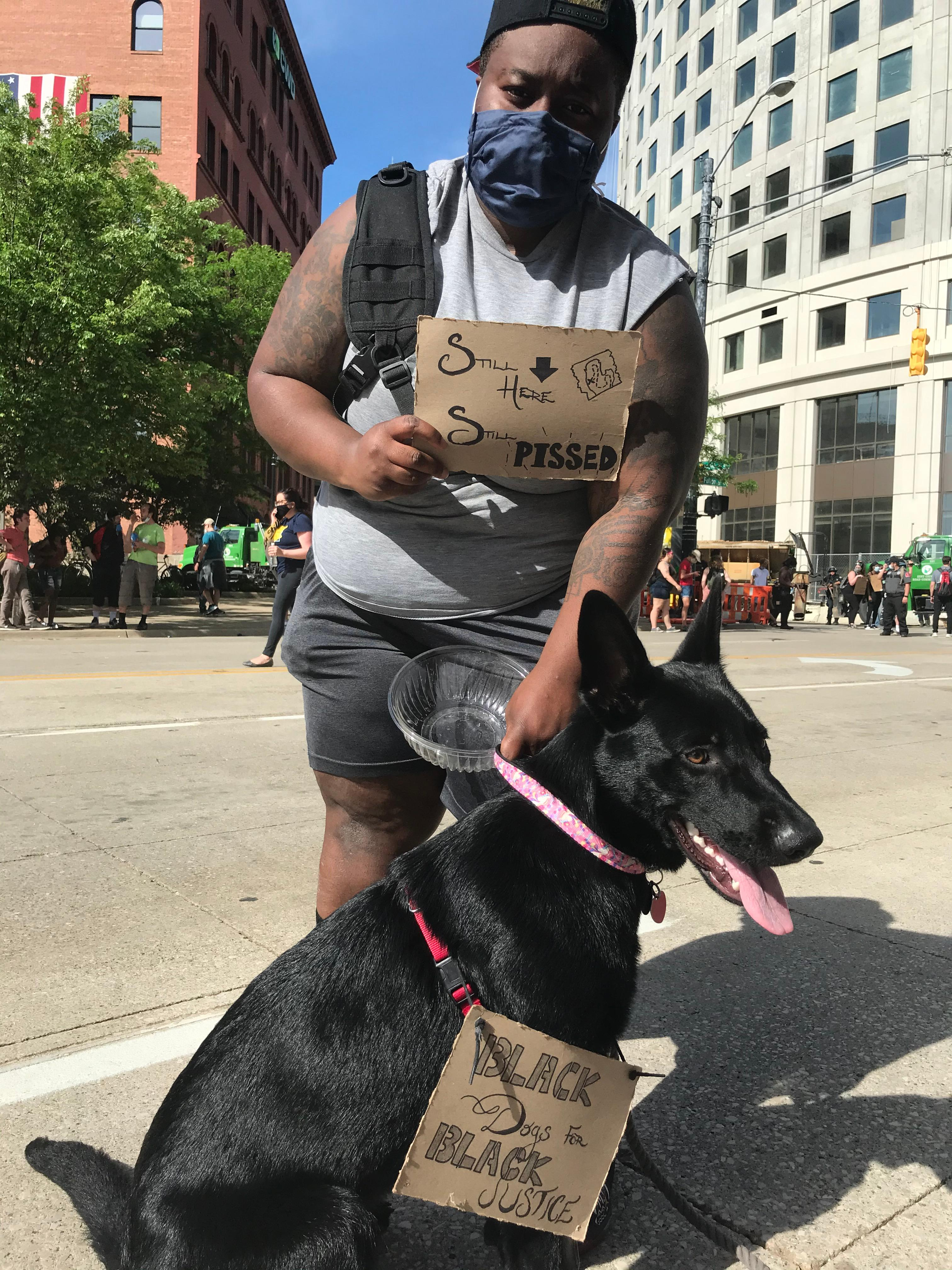 Both groups of protesters in Grand Rapids were advocating for change during the protests on June 3, 2020. (WWMT/Tarvarious Haywood)