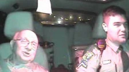 Sen. Paul Campbell in Patrol Car (SCHP)<p></p>