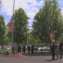 Memorial Day commemoration with flag dedication