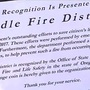 Fire marshal honors 11 men and women for responding to house fire in Riddle that killed 6