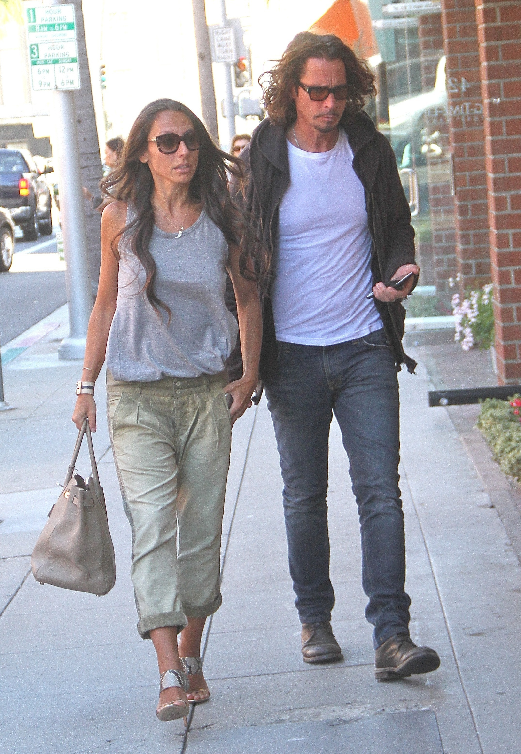 Musician Chris Cornell and his wife Vicky Karayiannis go shopping in Beverly Hills                                    Featuring: Chris Cornell, Vicky Karayiannis                  Where: Hollywood, California, United States                  When: 17 Jul 2015                  Credit: WENN.com