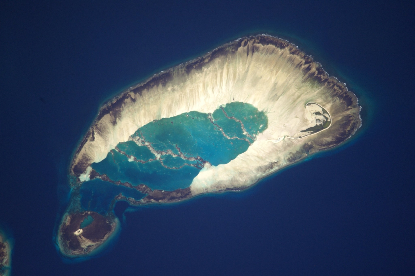One of the beautiful #Seychelles islands in the Indian Ocean (Photo & Caption: Thomas Pesquet // NASA)