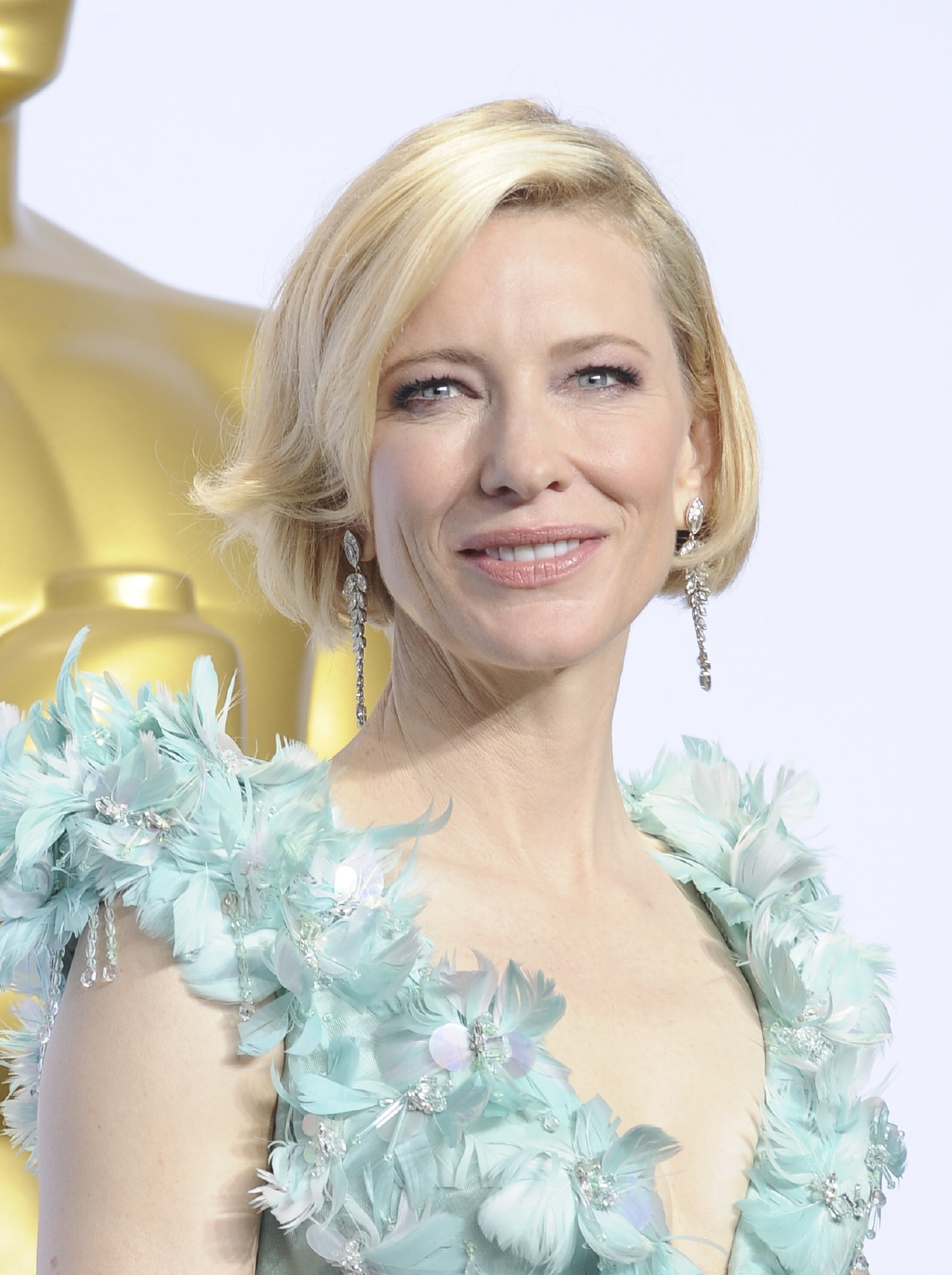 Cate Blanchett at the 88th Annual Academy Awards Pressroom. (Apega/WENN.com)