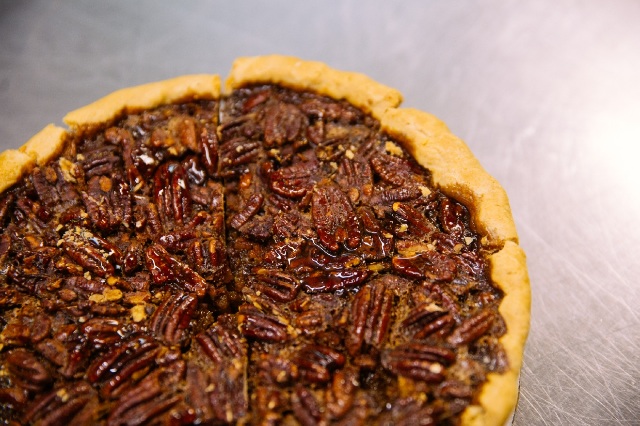 The Magnolias pecan pie is delightful. (Image: Joshua Lewis / Seattle Refined)