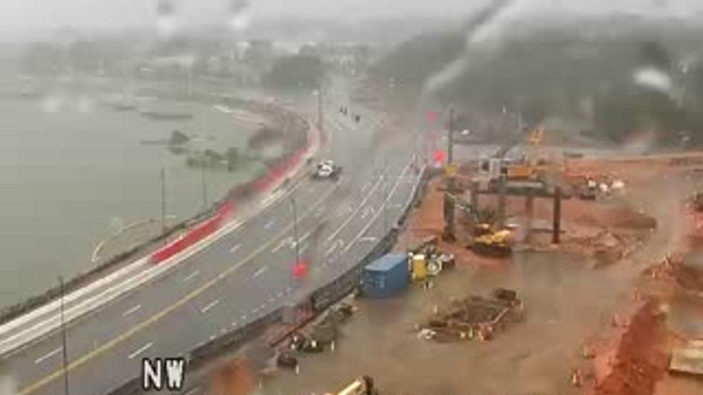 Barge strikes Three Mile Bridge, closed through duration of Hurricane Sally