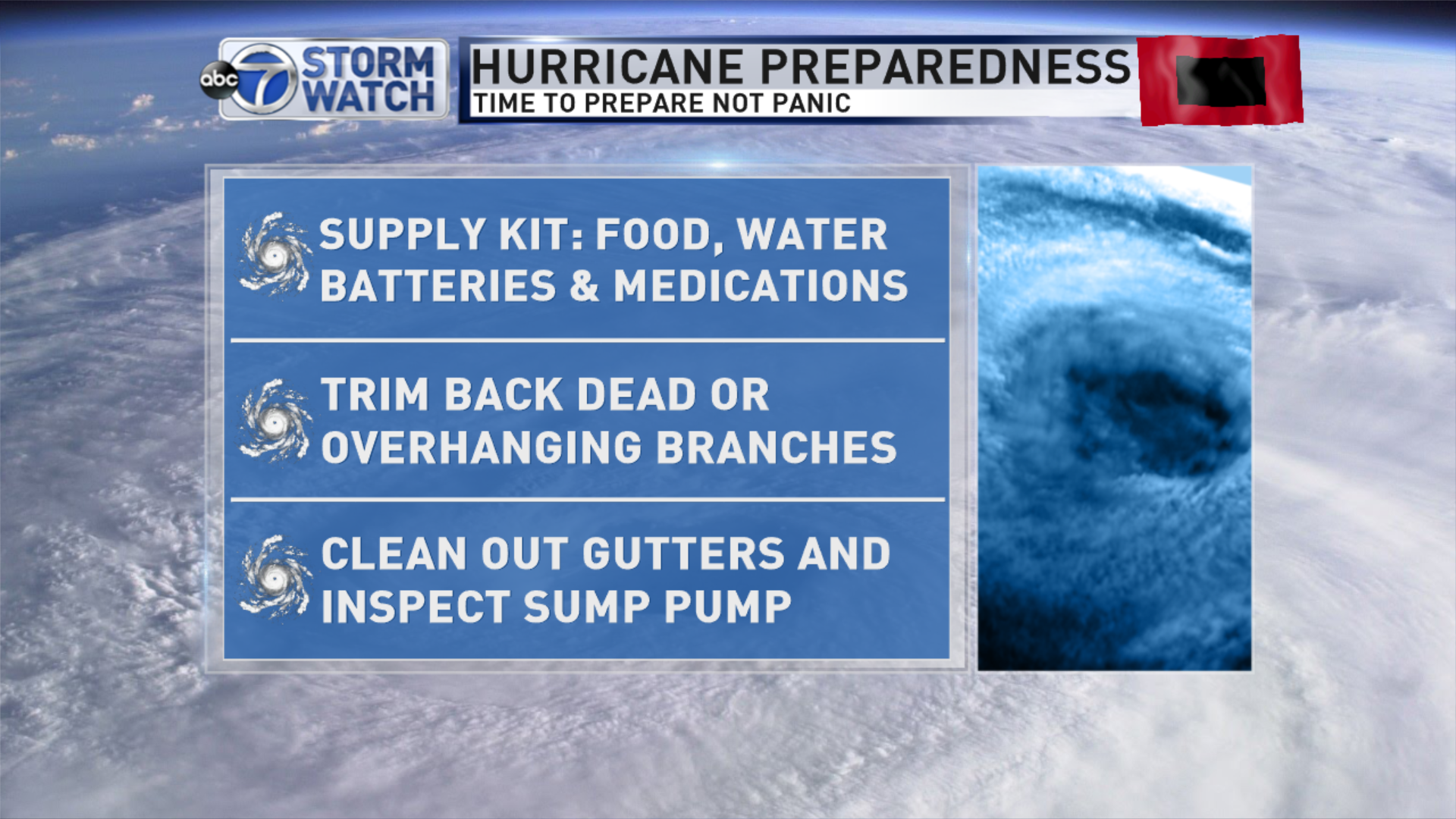 Whenever there is talk of a natural disaster in the DMV area, there is a tendency to panic. With hurricane Florence continuing to strengthen and the forecast of it becoming a major Category 4 before it makes a landfall, now is definitely the time to talk emergency preparedness. (Image: Courtesy StormWatch7 team)